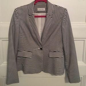 Calvin Klein Black & White Striped Blazer